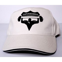 Čepice s kšiltem oblá, Superhuman - béžová