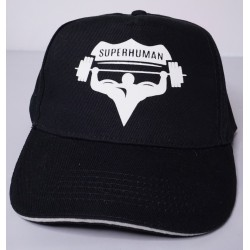 Čepice s kšiltem oblá, Superhuman - černá