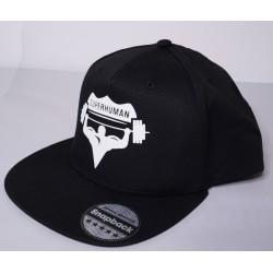 Čepice s kšiltem Snapback Rapper, Superhuman - černá