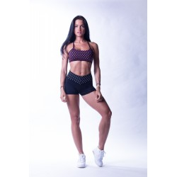Nebbia High waist N's shorts 648 černé
