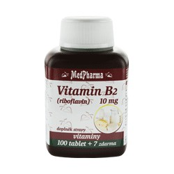 MedPharma Vitamin B2 (riboflavin) 10 mg, 107 tablet
