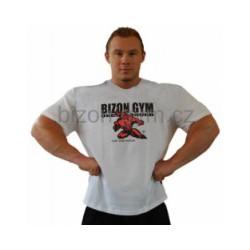 Bizon Gym Triko červený potisk