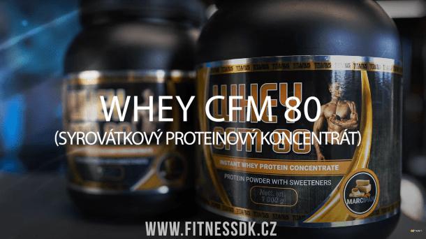 WHEY CFM 80 – chutný protein pro intenzivní výkon